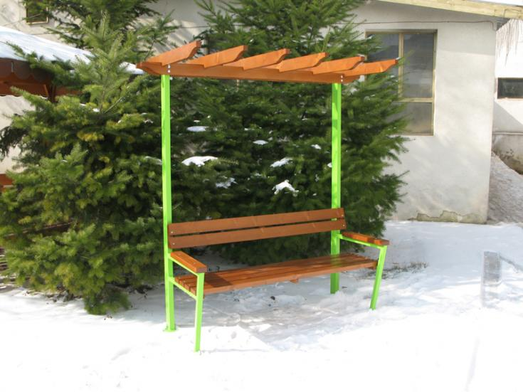 Product photo: Bench with pergola