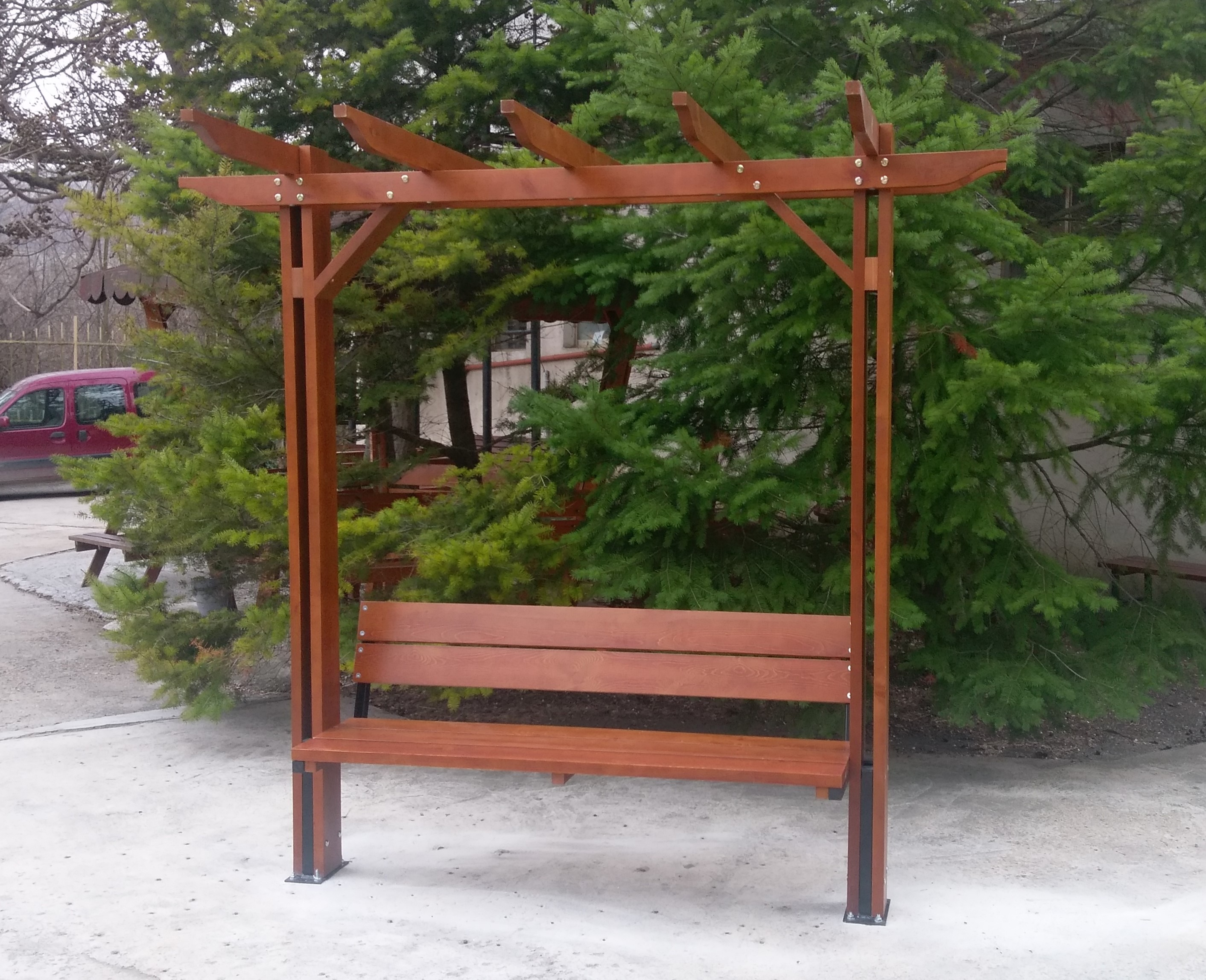Pergola with benches, model Optima- single
