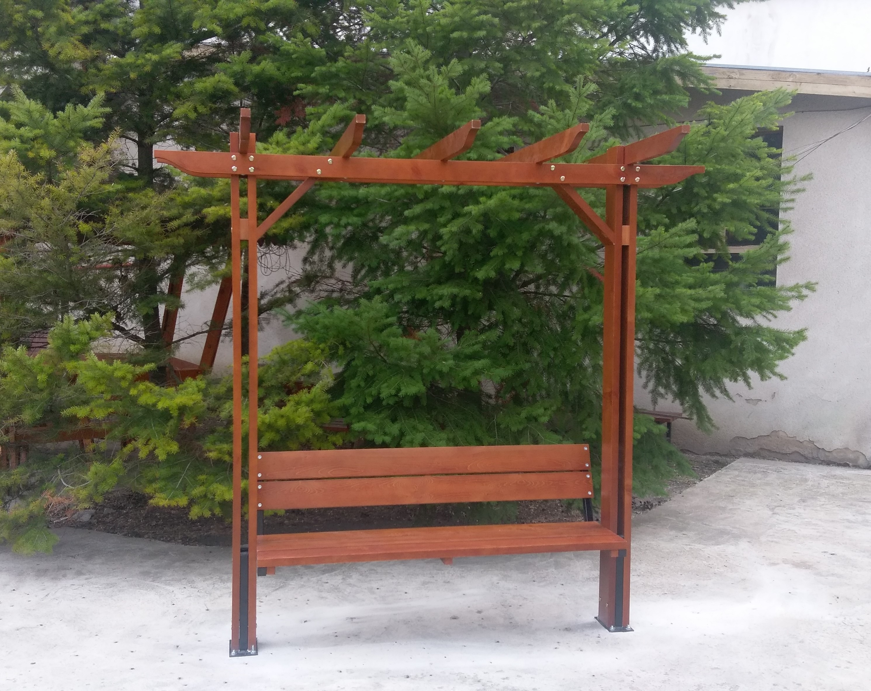 Product photo: Pergola with benches, model Optima- single