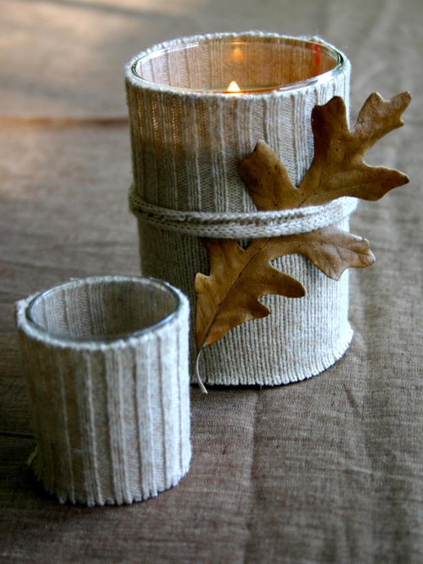 Autumn candlestick