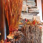 Есенна декорация от сухи клонки