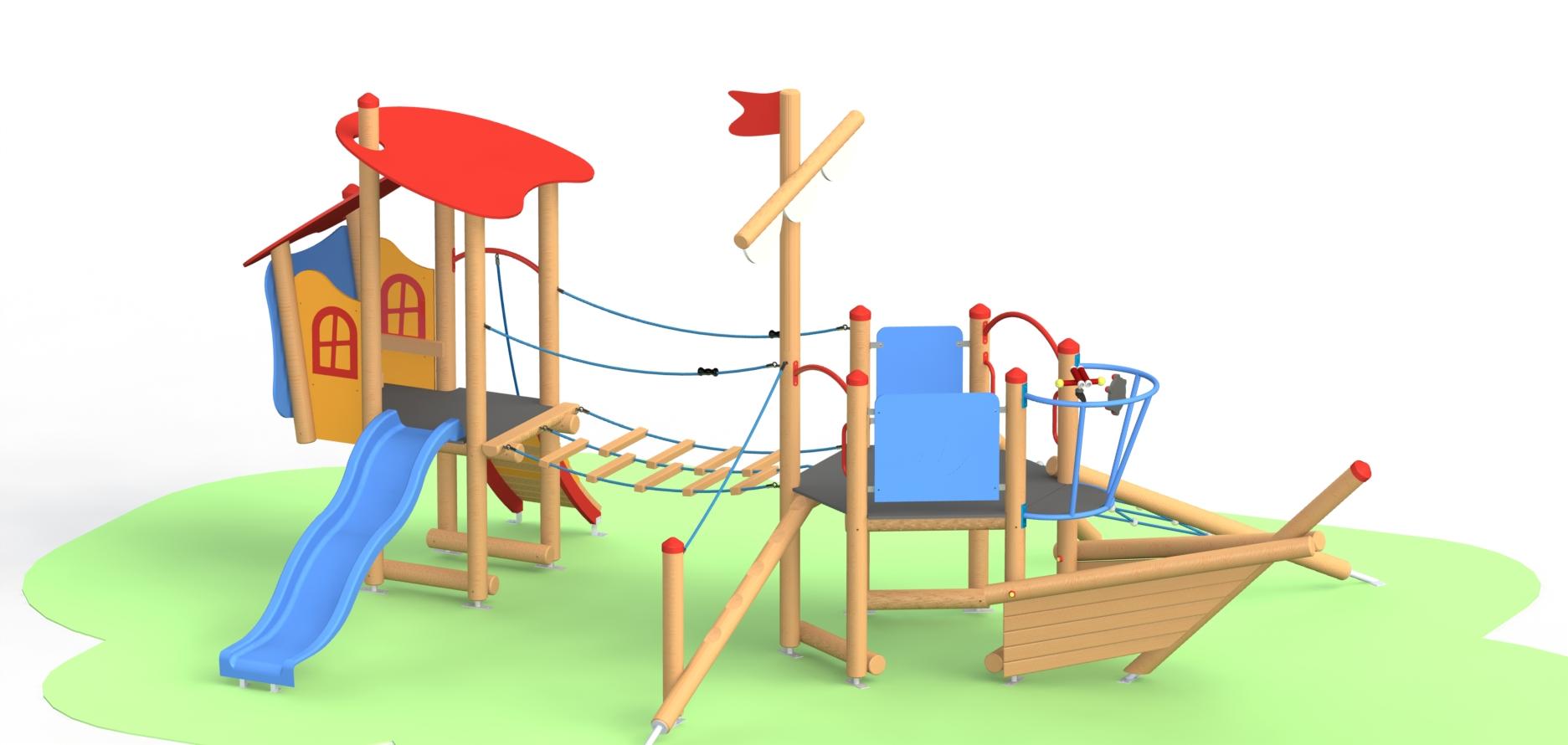Снимка на продукта: Комбинирано детско съоръжение, модел Г05