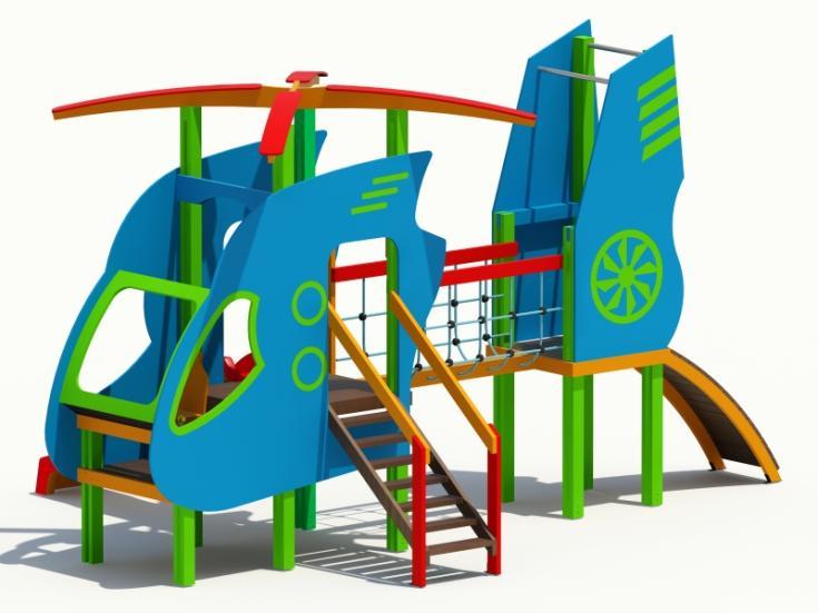Снимка на продукта: Комбинирано детско съоръжение, модел Т16