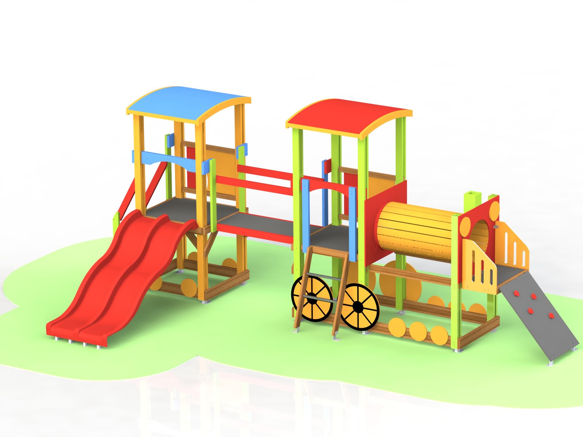 Снимка на продукта: Кoмбинирано детско съоръжение, модел Т03