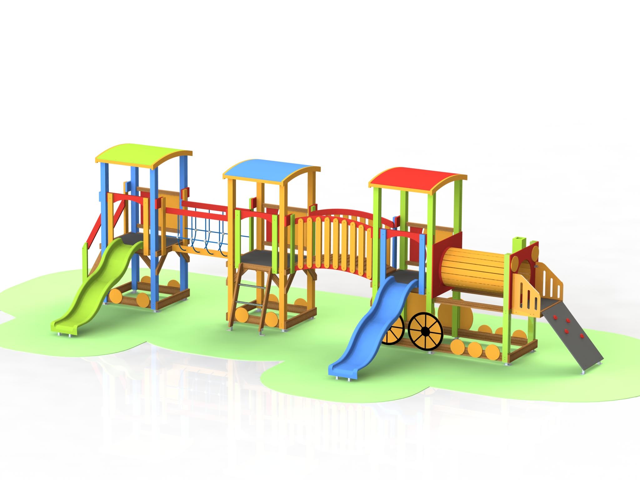 Снимка на продукта: Комбинирано детско съоръжение, модел Т04