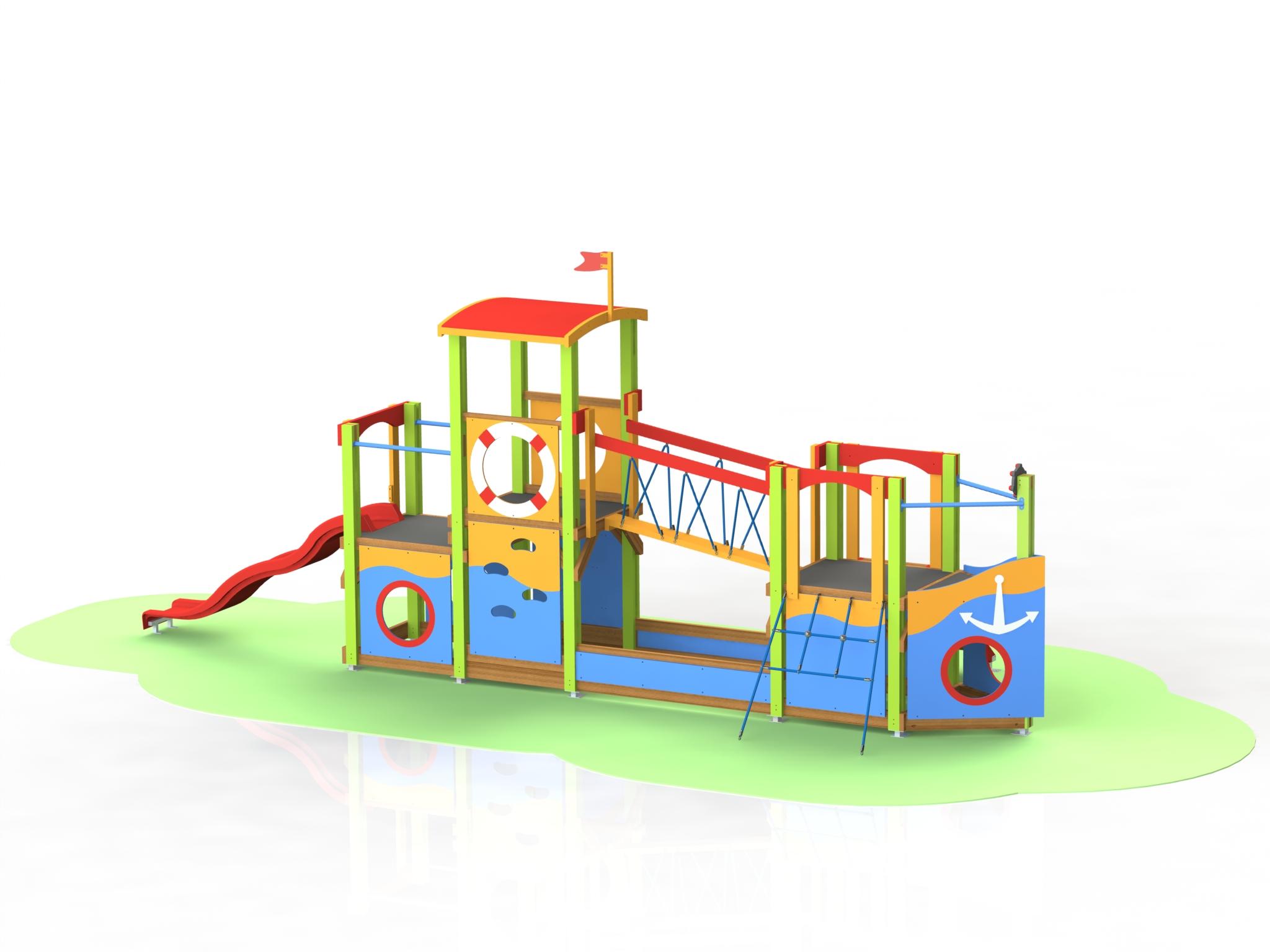 Снимка на продукта: Комбинирано детско съоръжение, модел Т05