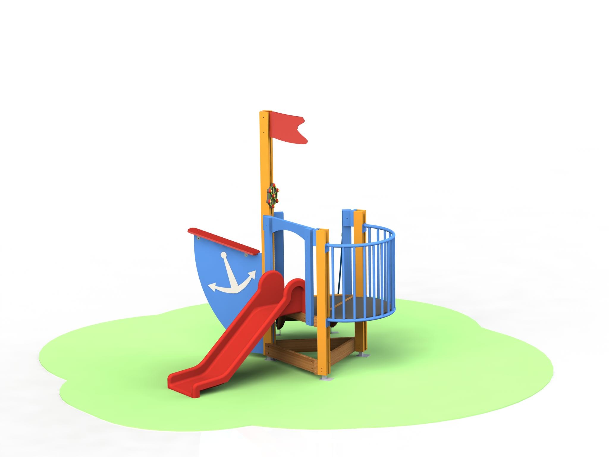 Снимка на продукта: Комбинирано детско съоръжение, модел Т23