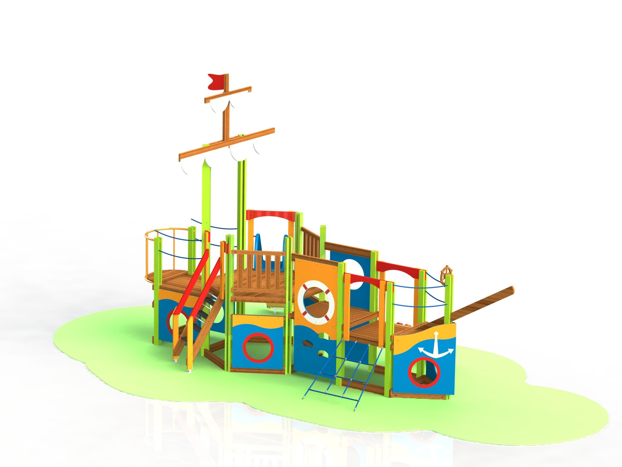 Снимка на продукта: Комбинирано детско съоръжение, модел Т31