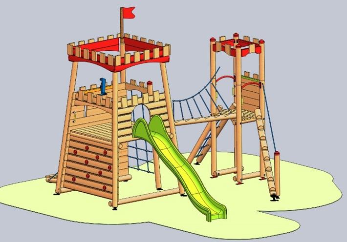 Снимка на продукта: Комбинирано детско съоръжение, модел Г59