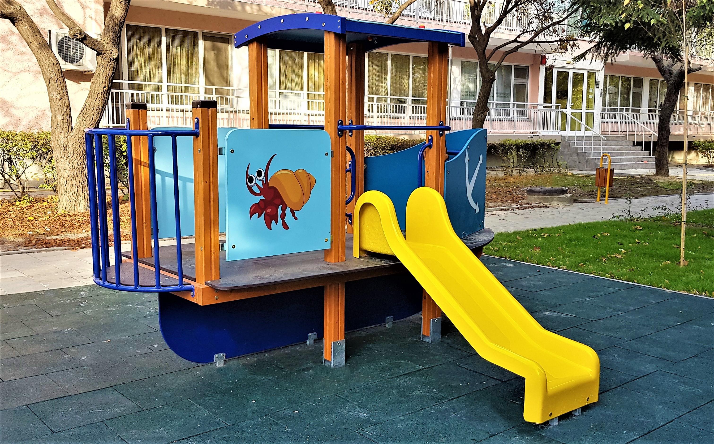 """Снимка на продукта: Комбинирано детско съоръжение, модел КД59 – """"Корабчето"""""""