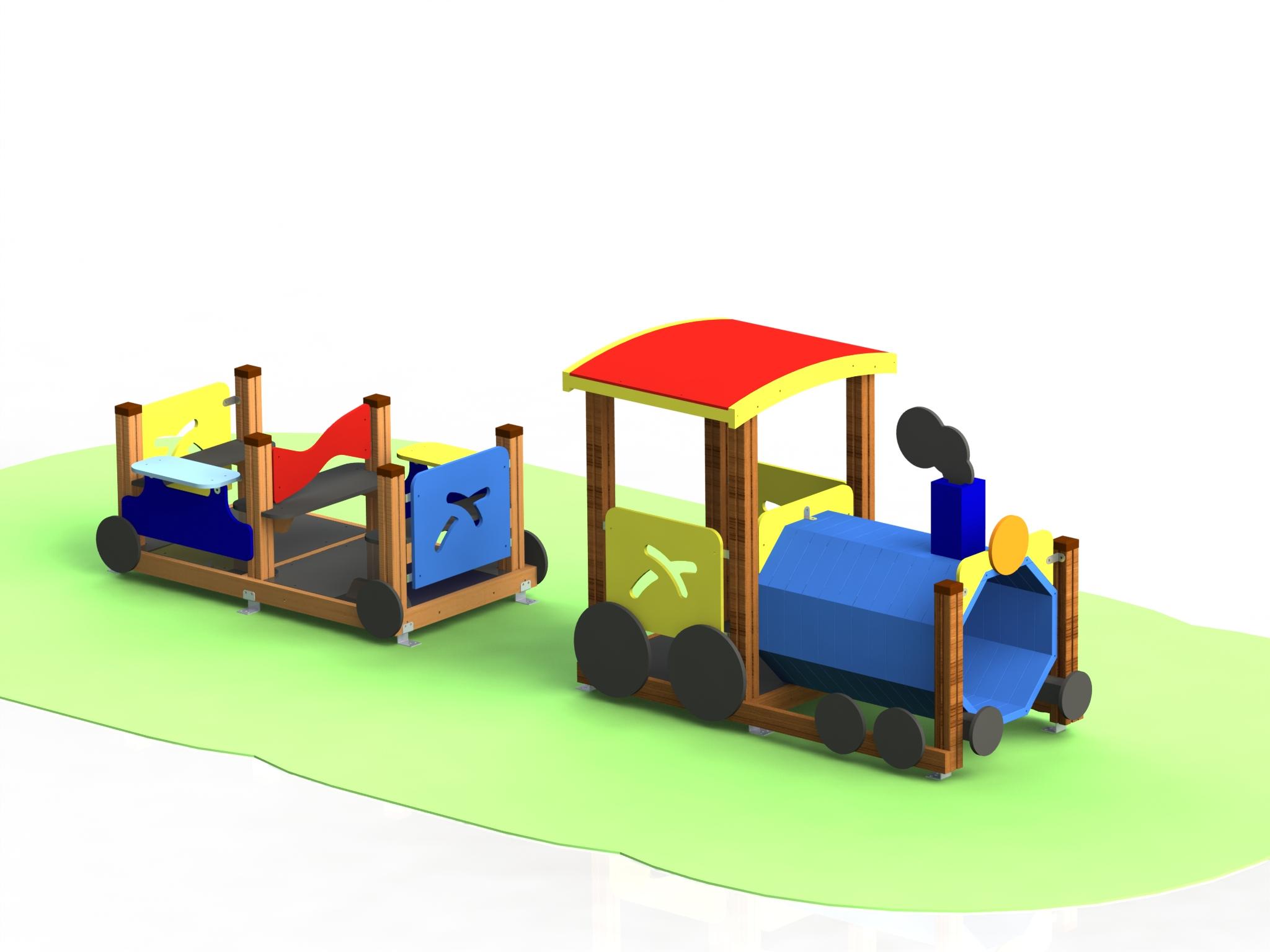 """Снимка на продукта: Комбинирано детско съоръжение, модел КД62 – """"Влакче"""""""