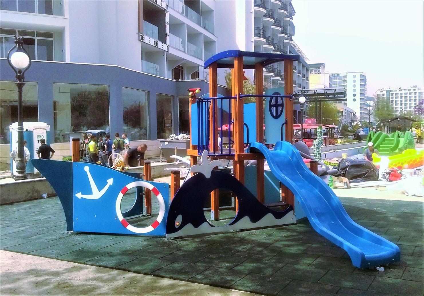 """Снимка на продукта: Комбинирано детско съоръжение, модел КД83 – """"Морско пътешествие"""""""