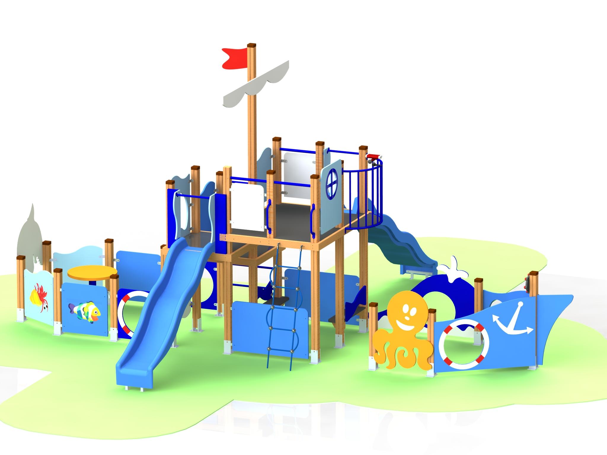 Снимка на продукта: Комбинирано детско съоръжение, модел КД33